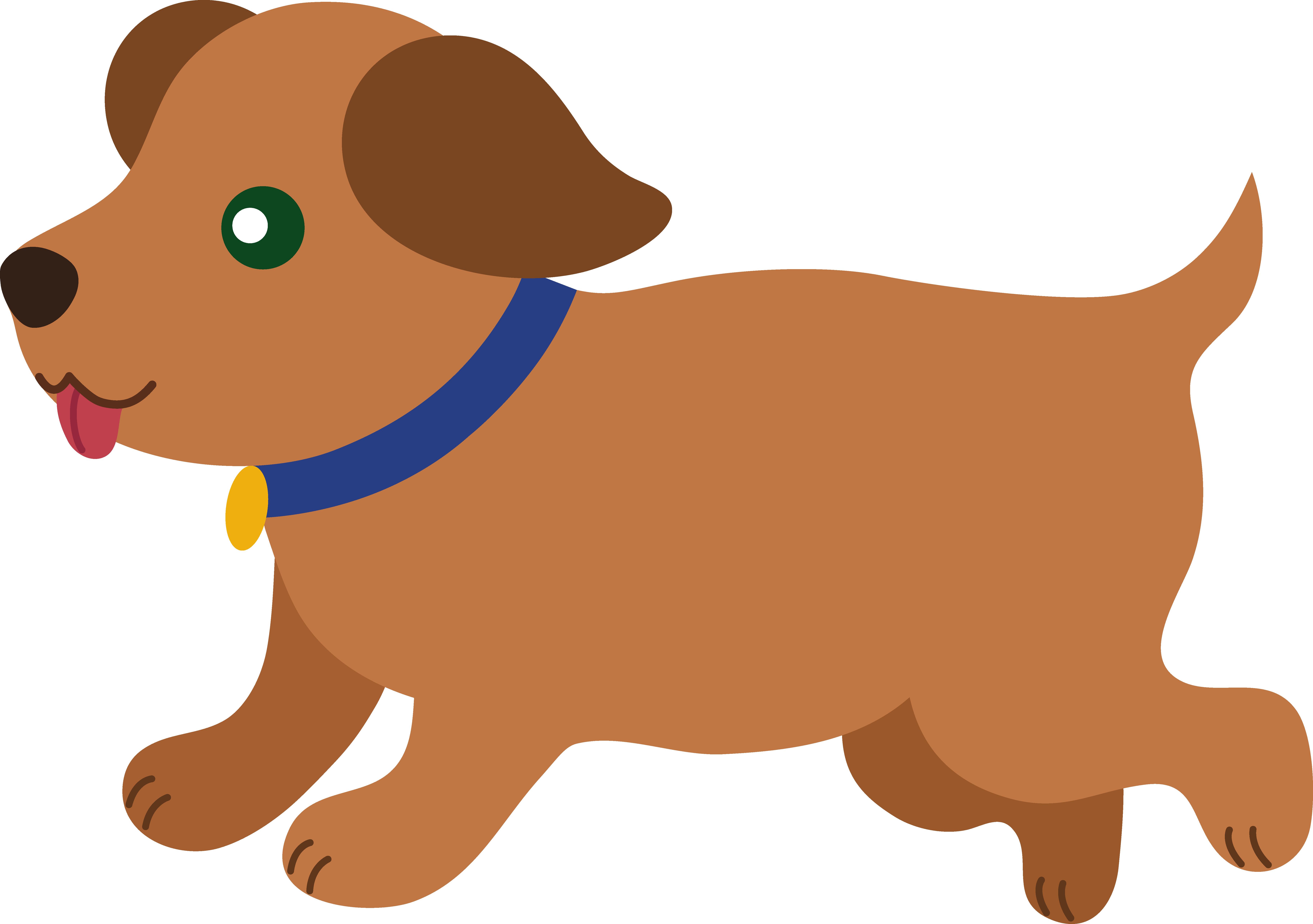 image transparent library Modern cartoon dog . Brown clipart doggie