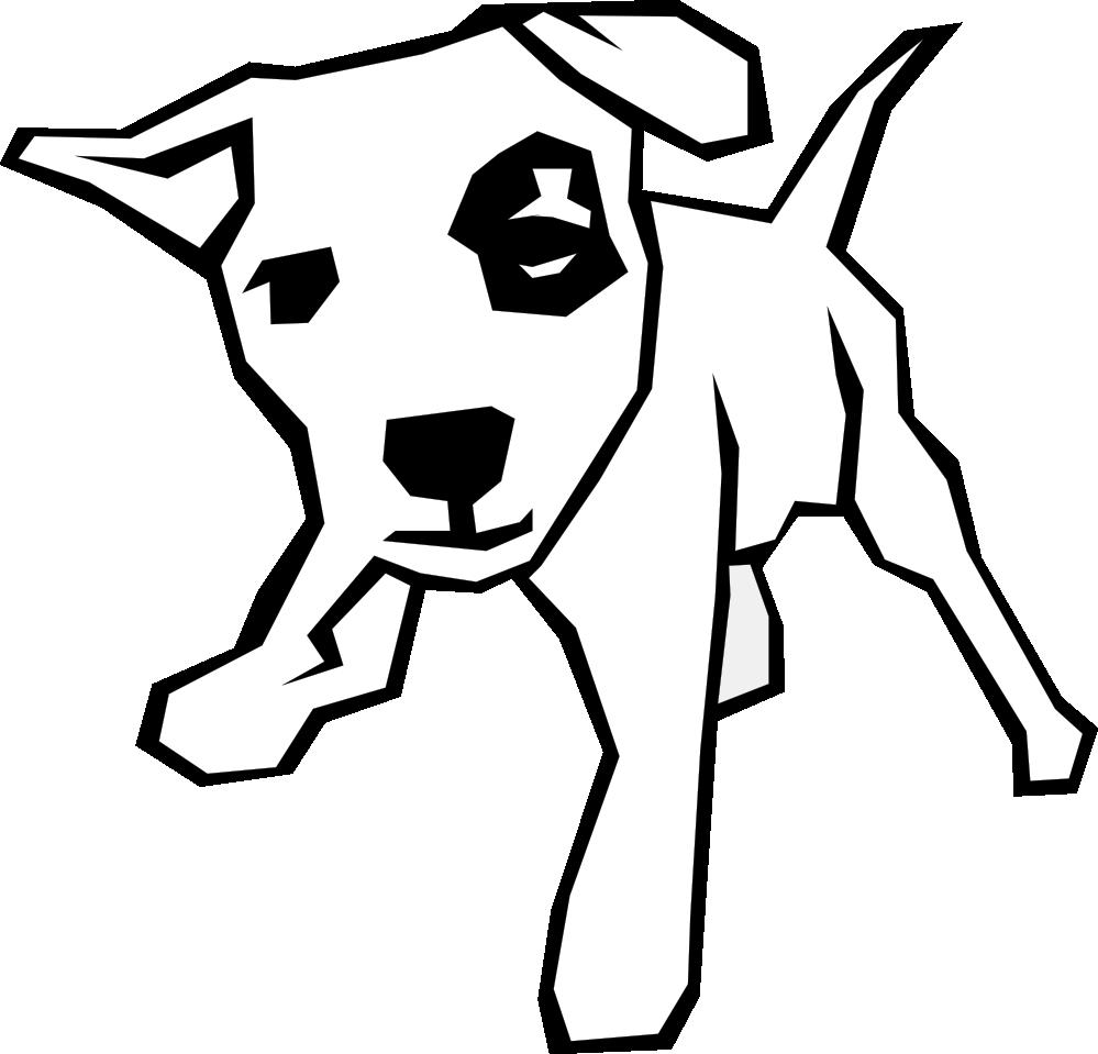 vector black and white Dog Clip Art Black And White