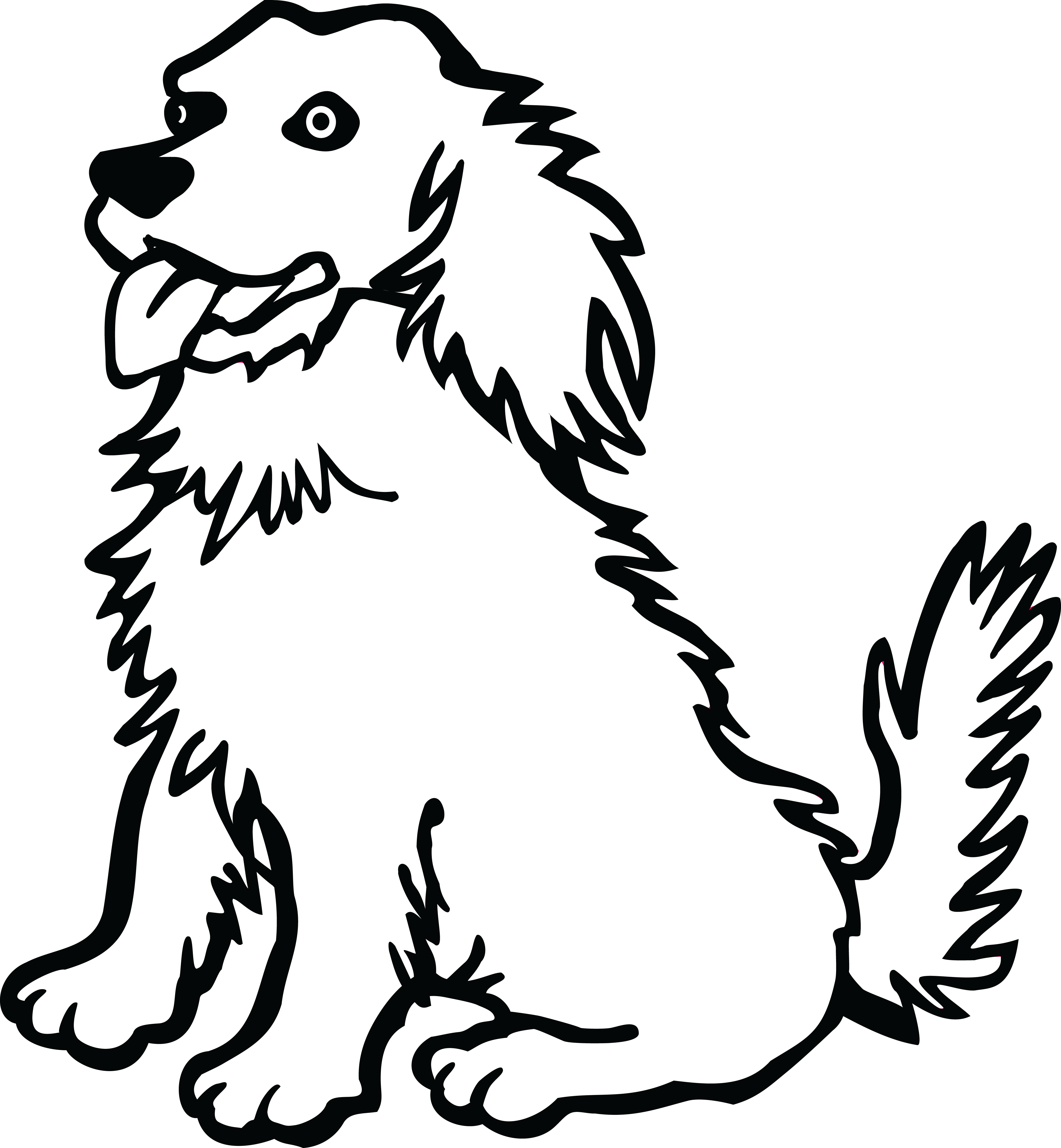 image black and white stock Free png of dogs. Dog clipart black and white.
