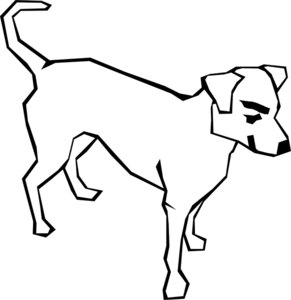 graphic stock Mean clip art at. Dog clipart black and white.