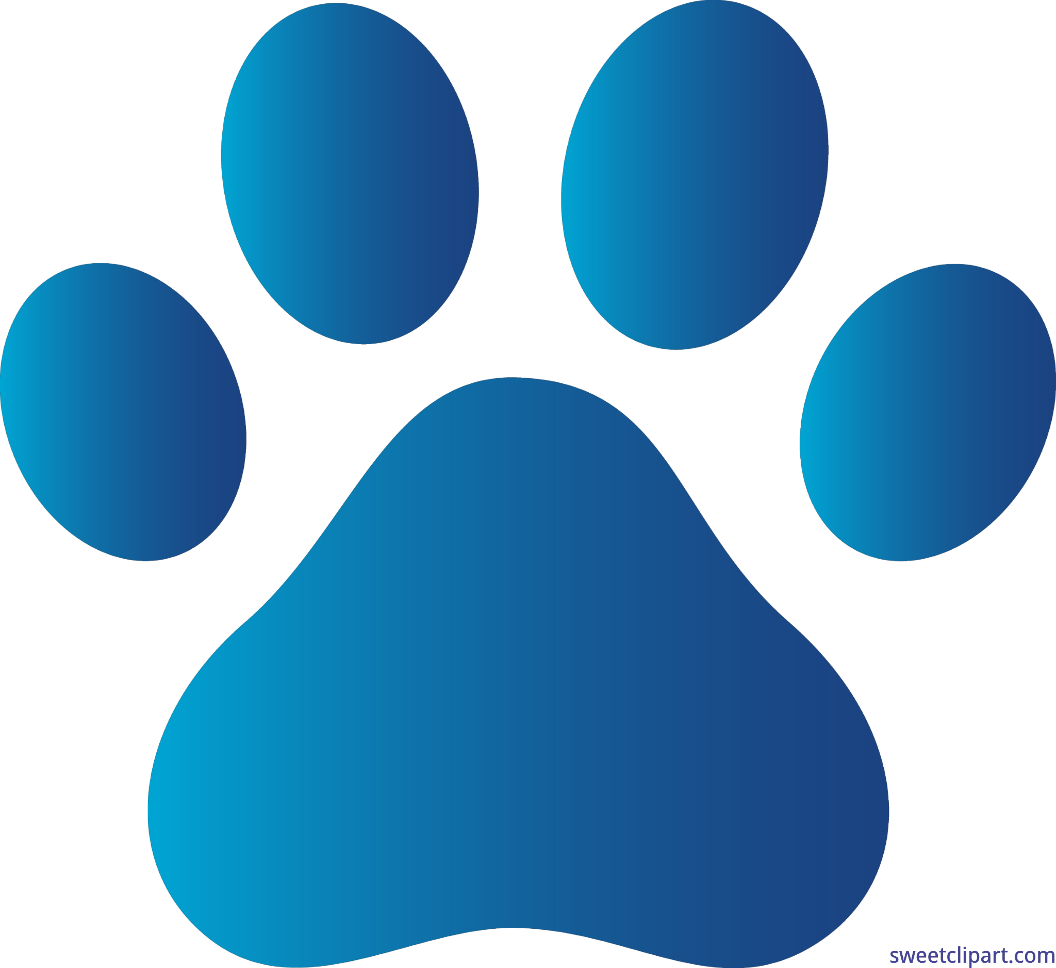 png black and white Dog Paw Print Blue Clip Art