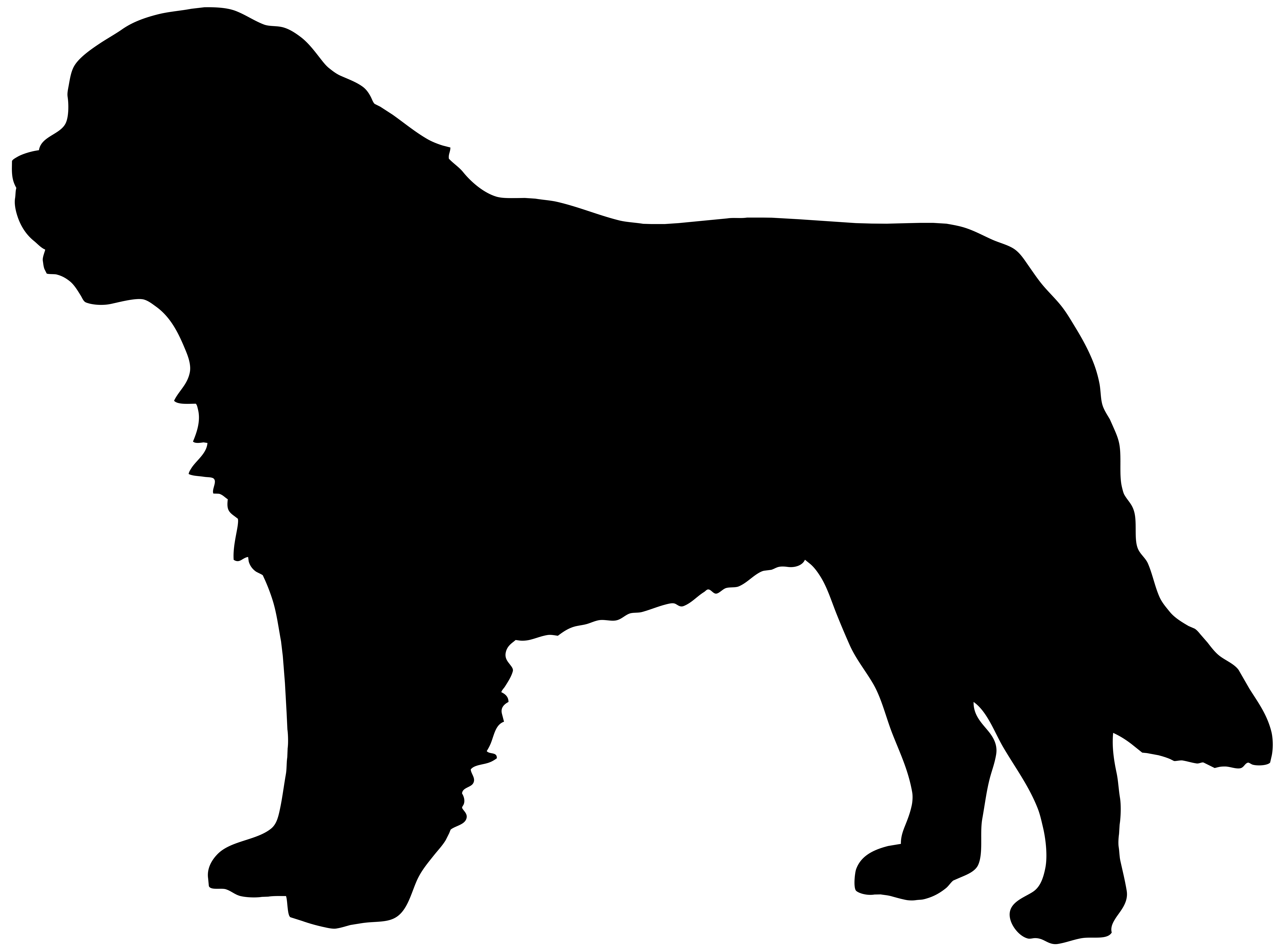 clip royalty free download Saint Bernard Dog Silhouette PNG Clip Art Image