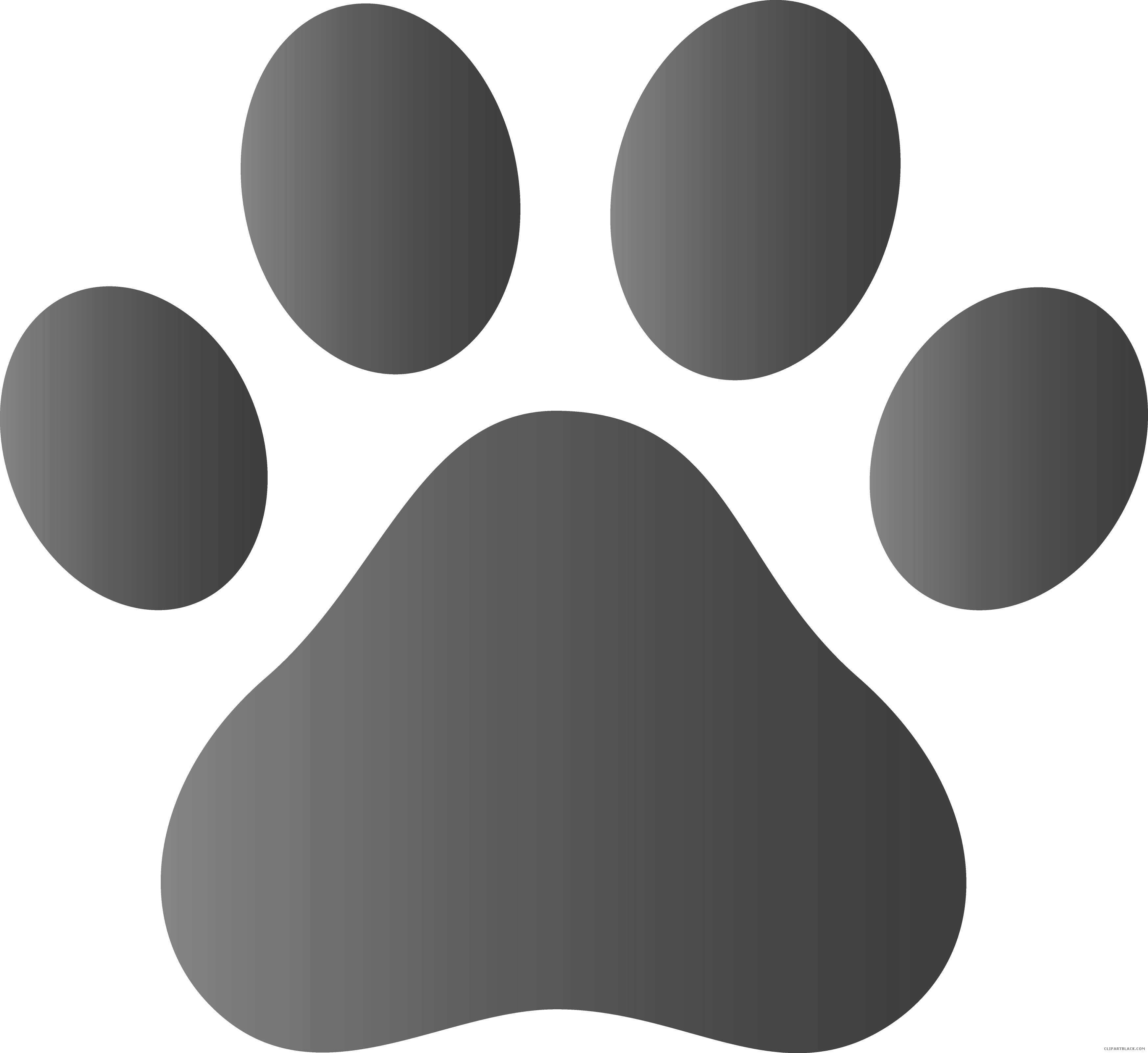 graphic black and white library Vector paw. Dog prints clipart page