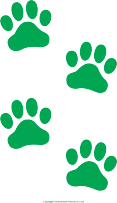 royalty free stock Free Paw Prints Clipart