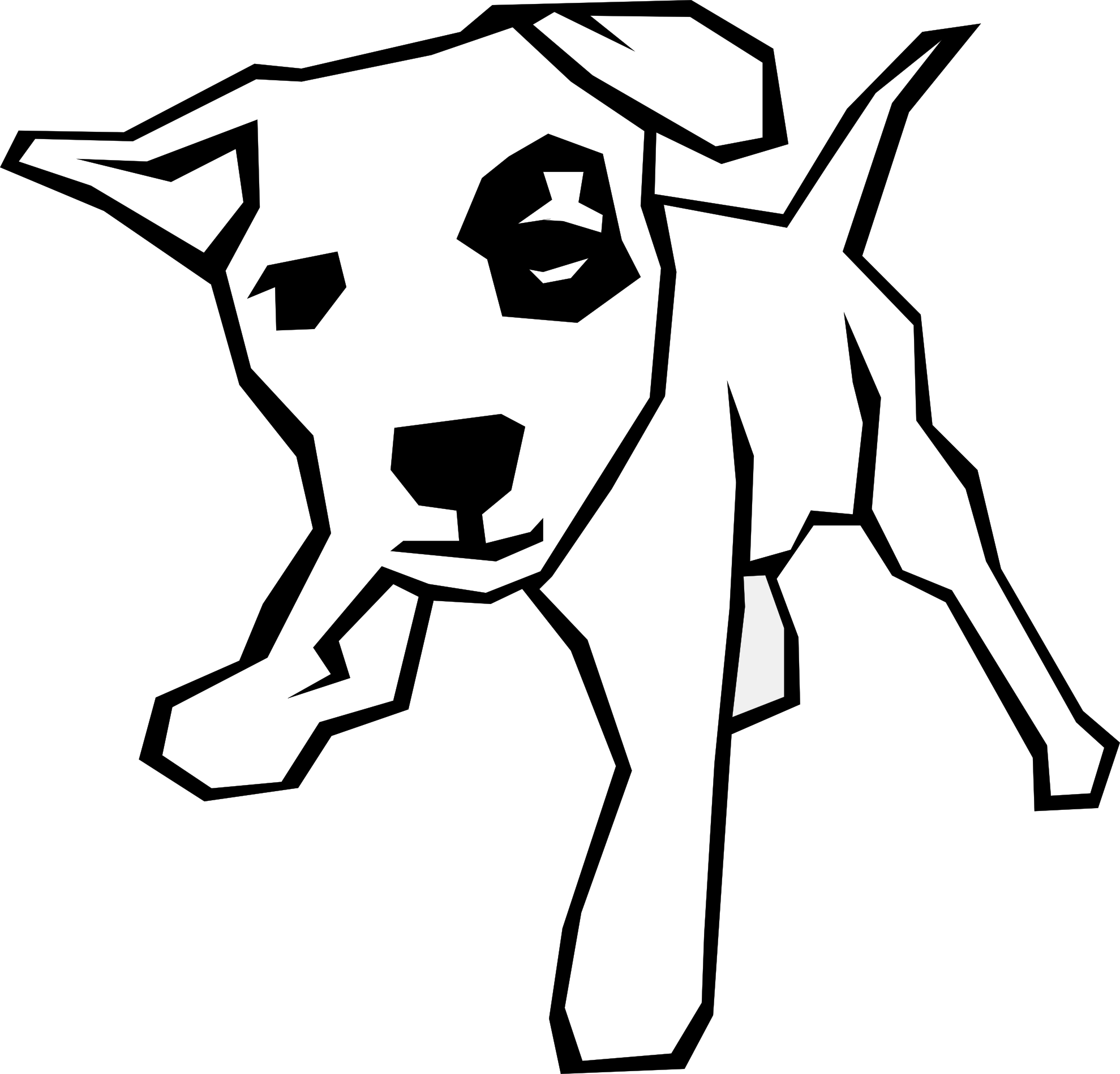 clip library library Dog Clip Art Black And White