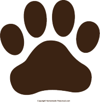 clip art library library Free Paw Prints Clipart