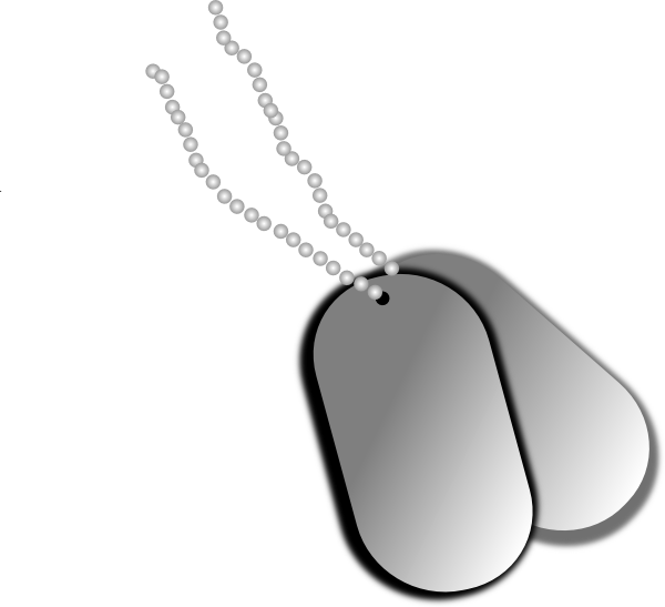 image freeuse download Dog Tags Clip Art at Clker