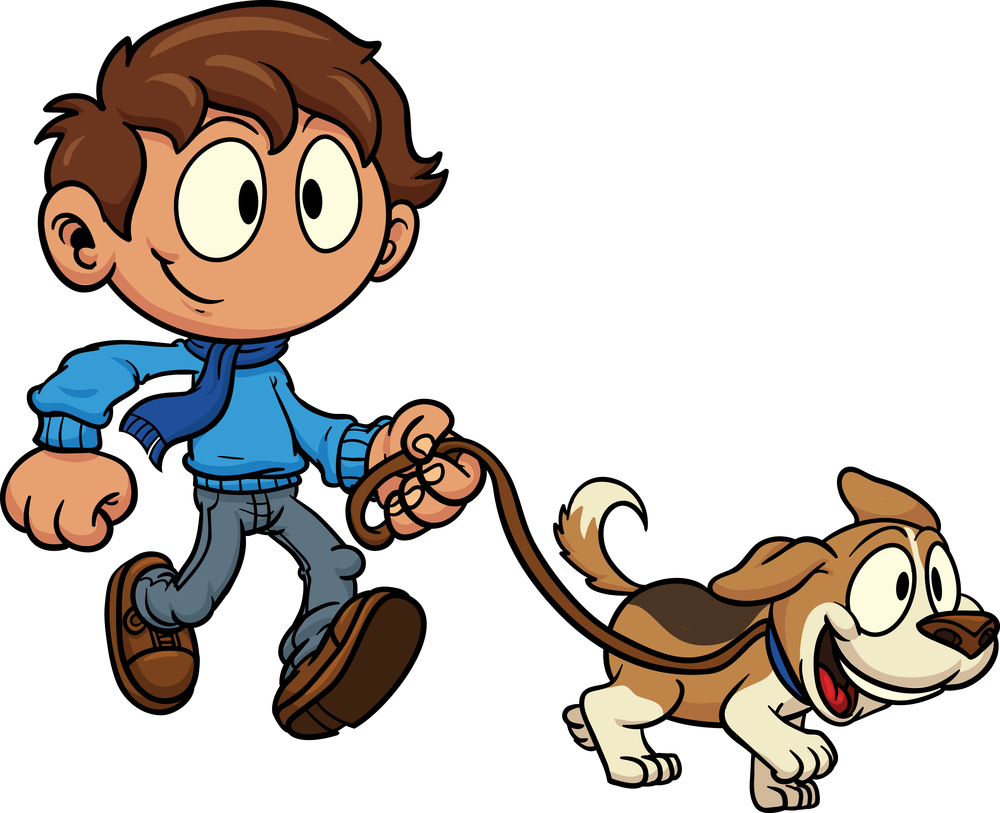 vector royalty free Free cliparts download clip. Dog walking clipart.