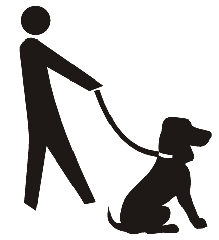 vector royalty free Dog walking clipart. Free cliparts download clip.
