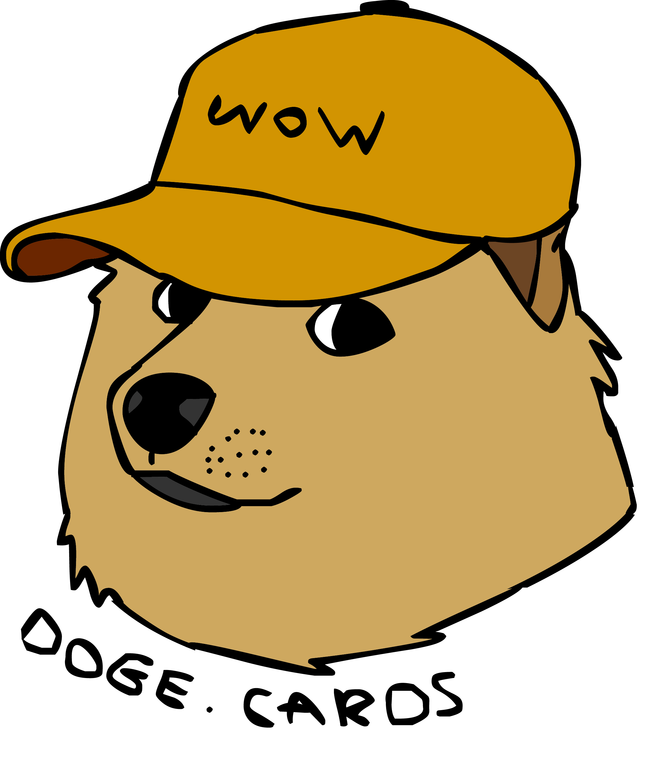 png royalty free download I drew a quick. Doge vector