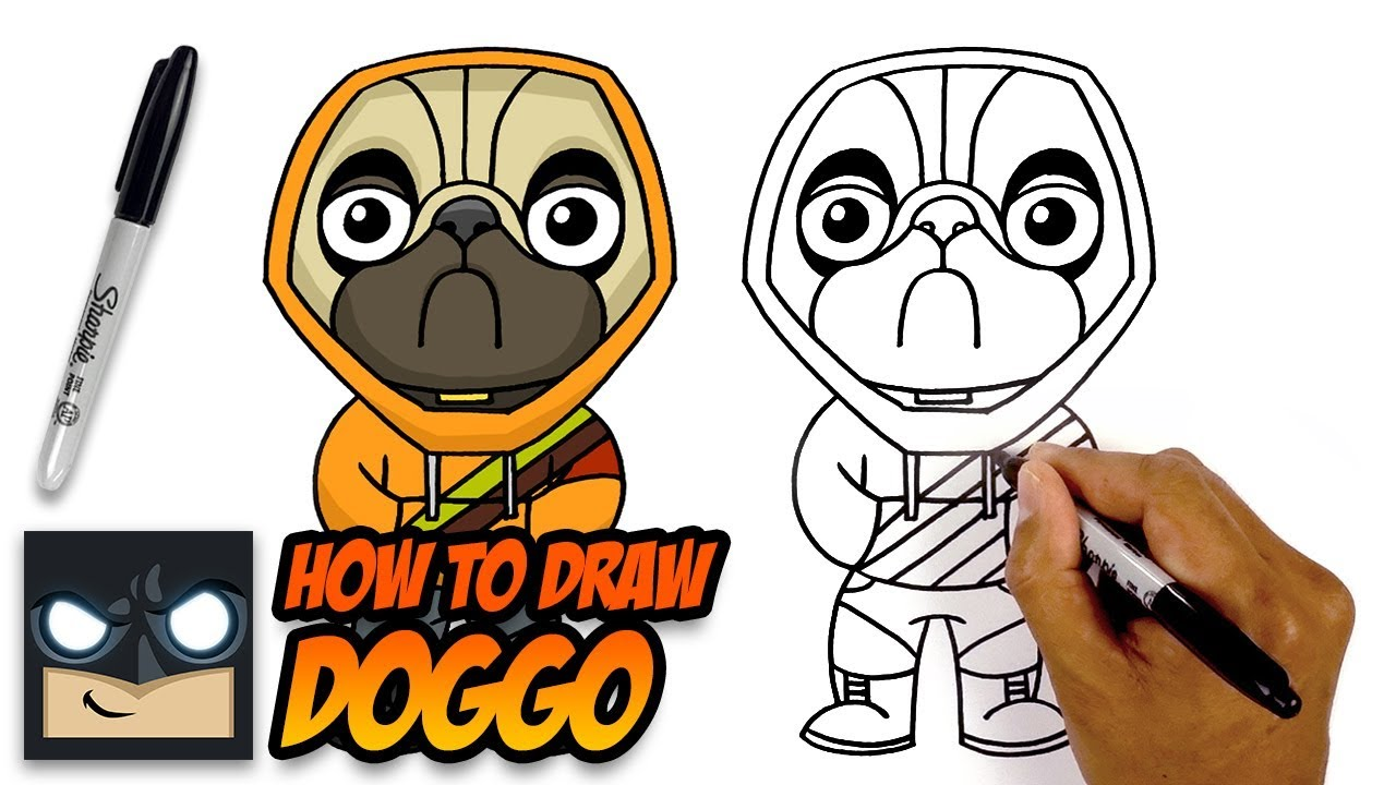 clip freeuse Doggo drawing. How to draw fortnite.