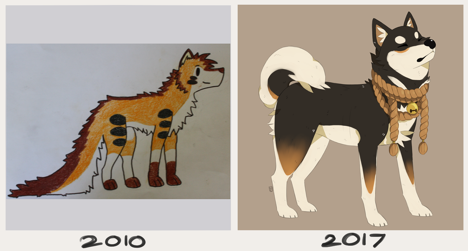 clip black and white library Doggo drawing. Improvement of my skills.