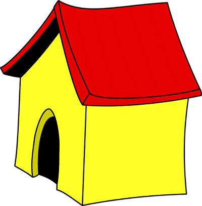 picture library library Doghouse clipart transparent. Dog house clip art.