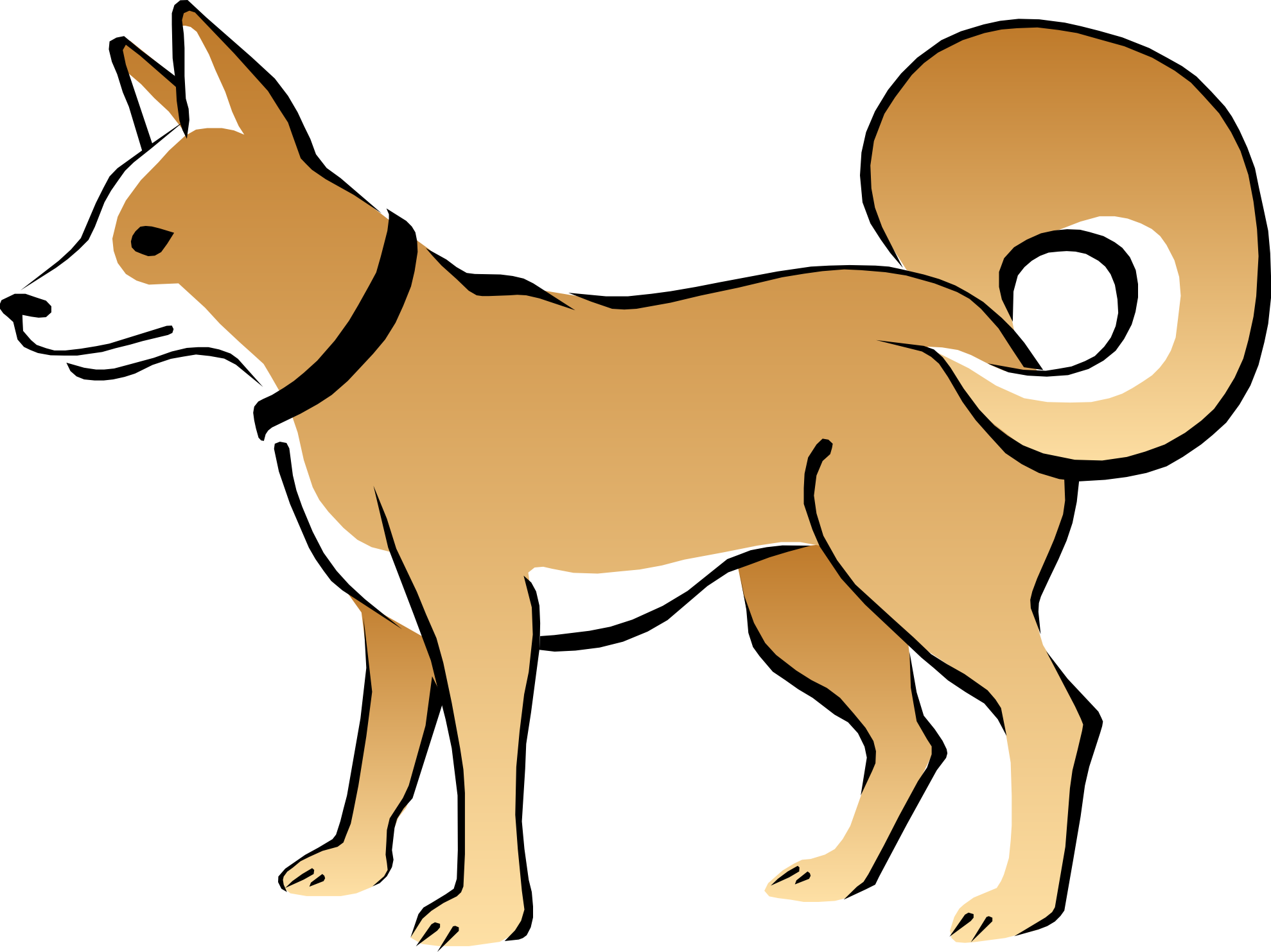 royalty free library Dog . Dogs clipart.