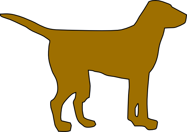 clip art royalty free library Dog silhouette clip art. Yellow lab clipart