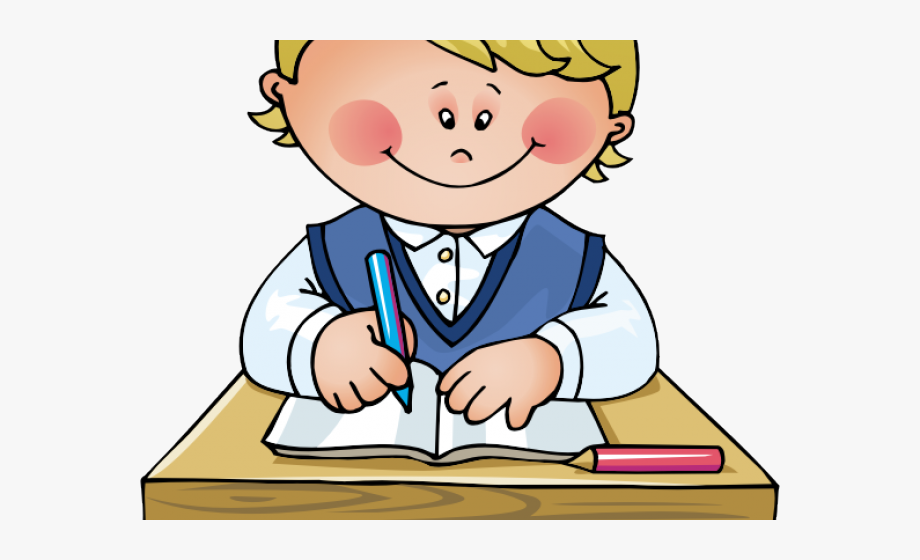 banner royalty free stock School work do in. Kids working clipart