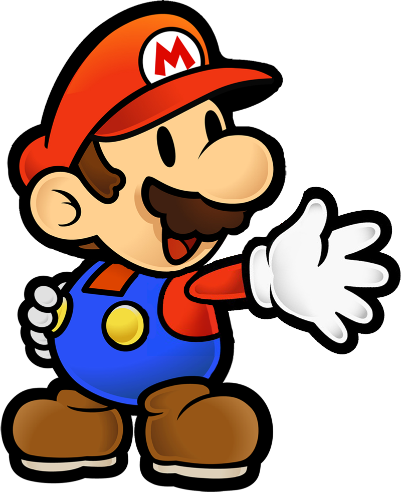 jpg black and white library paper mario clipart #65769674