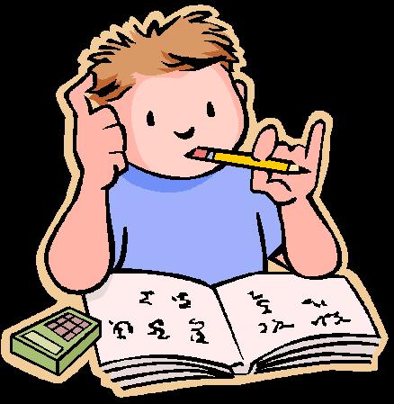 jpg free stock Student working hard clipart. Doing homework clip art.