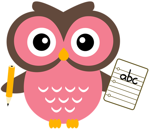 image black and white download Writer clipart cute. Owl for teachers homework