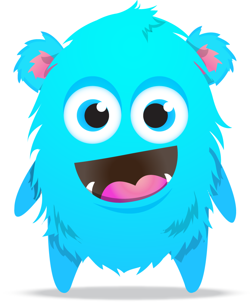 image black and white download Blue clipart monsters. Dojo monster cliparts free.