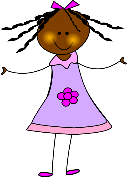 banner free stock African american clip art. Doll clipart