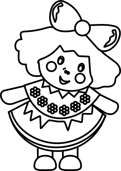 clip art library stock drawing dolls black and white #111726586