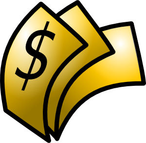 clipart library download Gold theme money clip. Dollars clipart