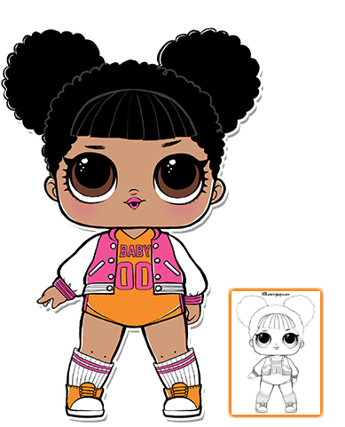 black and white Dolls clipart. Drawing at getdrawings com