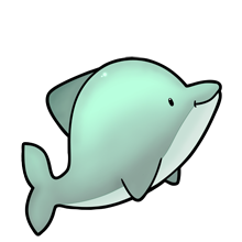 clipart free download Cute Dolphin