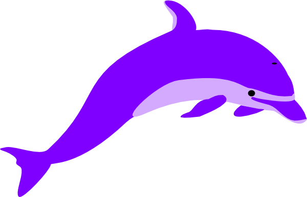 clipart black and white library Purple Dolphin Clip Art at Clker