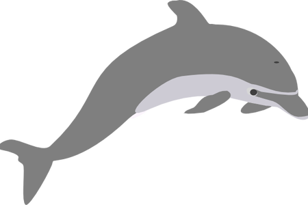 vector freeuse download Vector dolphin traceable. Clipart for kids path