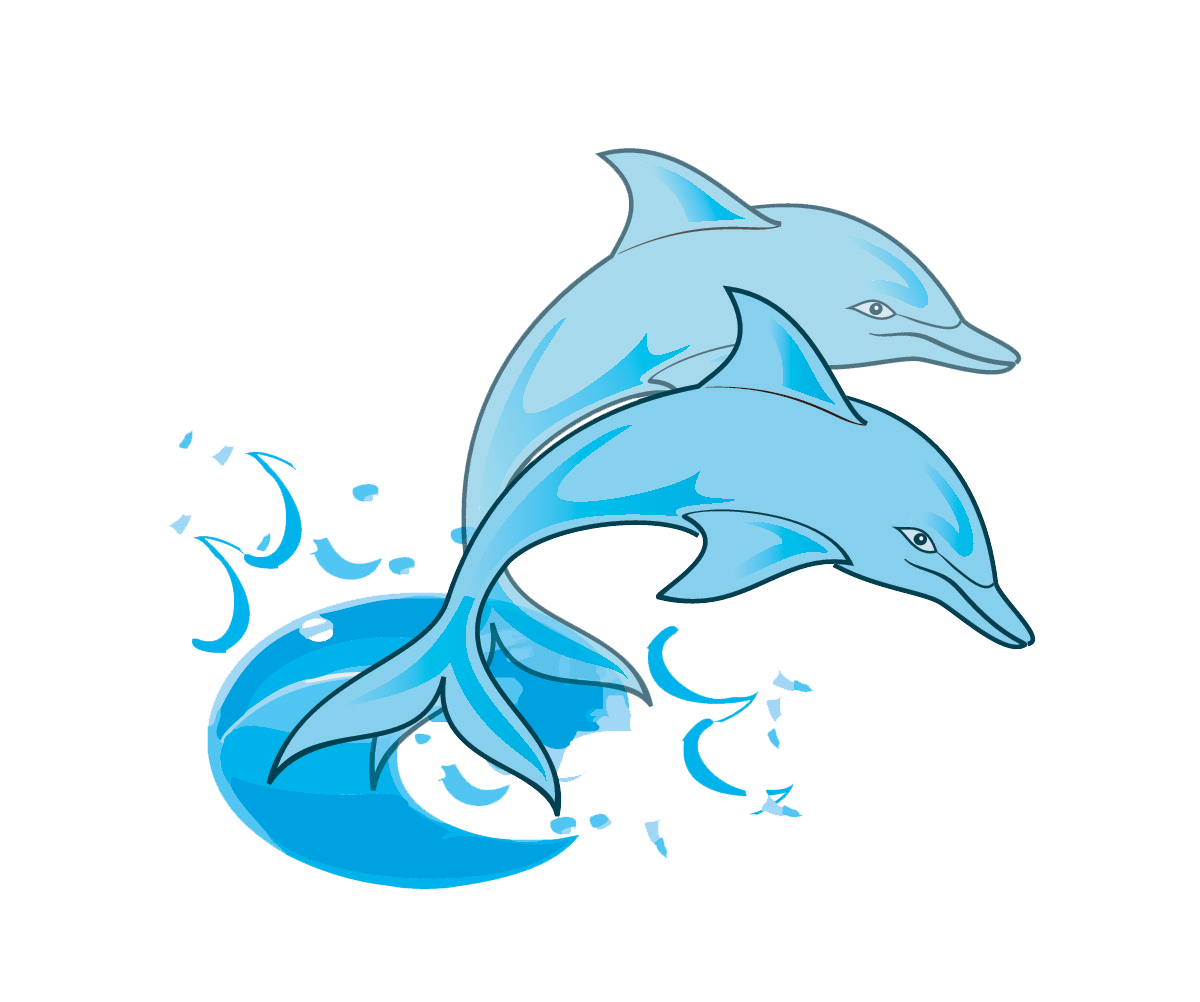 transparent Dolphin clipart. Paintings free pair of.