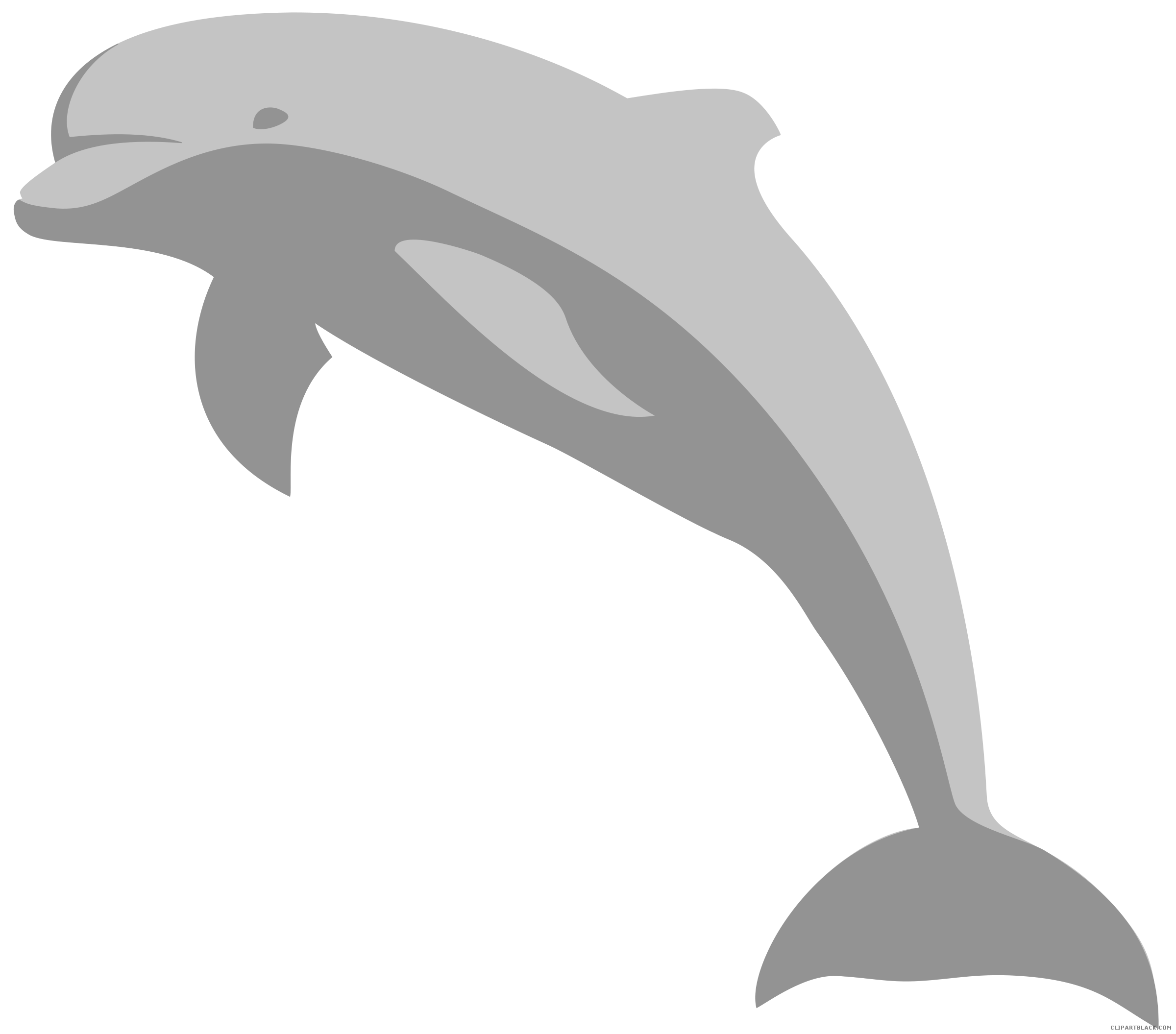 graphic freeuse stock Amazing clipartblack com animal. Dolphin clipart black and white