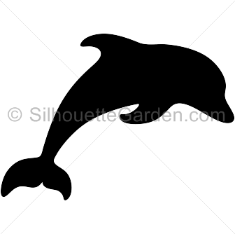 clip freeuse library Dolphin silhouette clip art