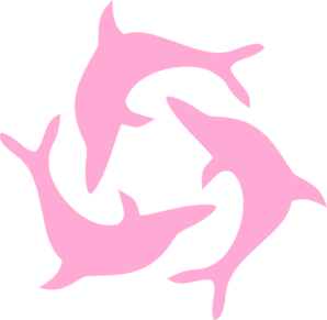 graphic library stock Pink triad clip art. Vector dolphin dolphine