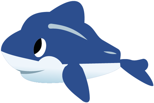 vector royalty free download Vector dolphin animated. Free and whale graphics
