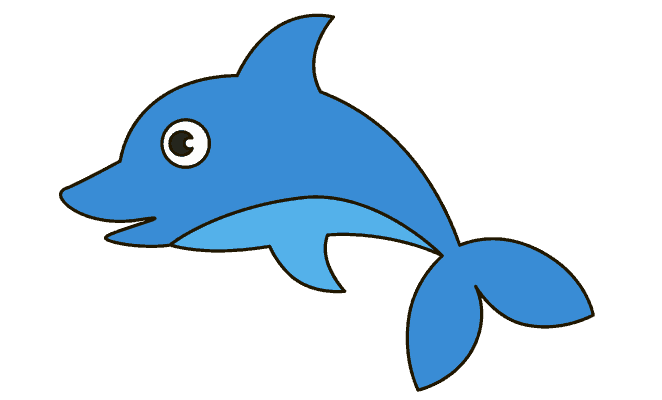 vector black and white download Dolphin Drawing Image at GetDrawings