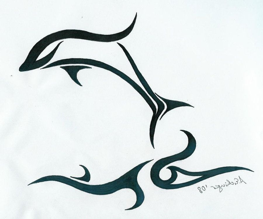 stock Great love it delfinarecords. Drawing dolphin abstract