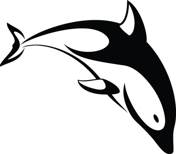 image black and white vector dolphin tribal #107737412