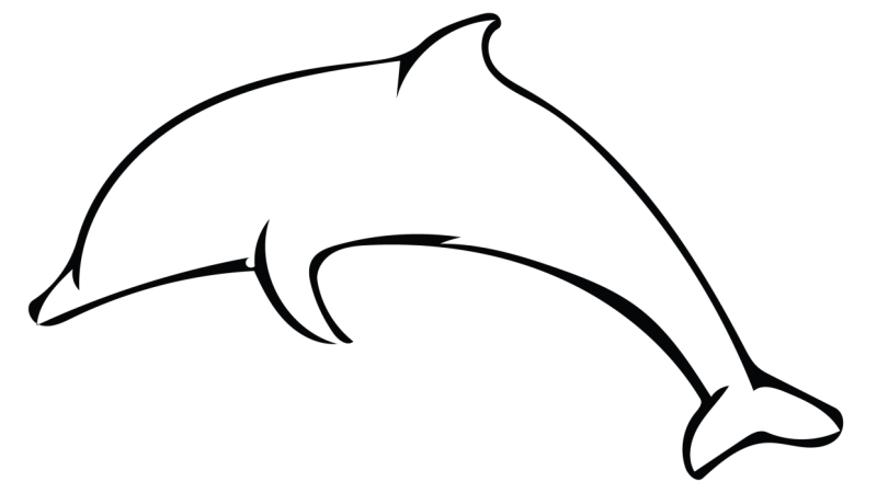 clip transparent stock Simple dolphin outline