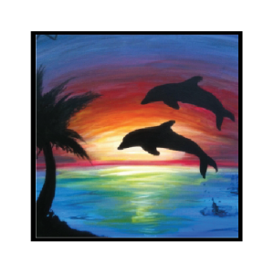 png royalty free library dolphin sunset tattoo