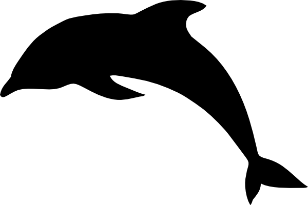 svg library stock Vector dolphin. Outline silhouette clip art