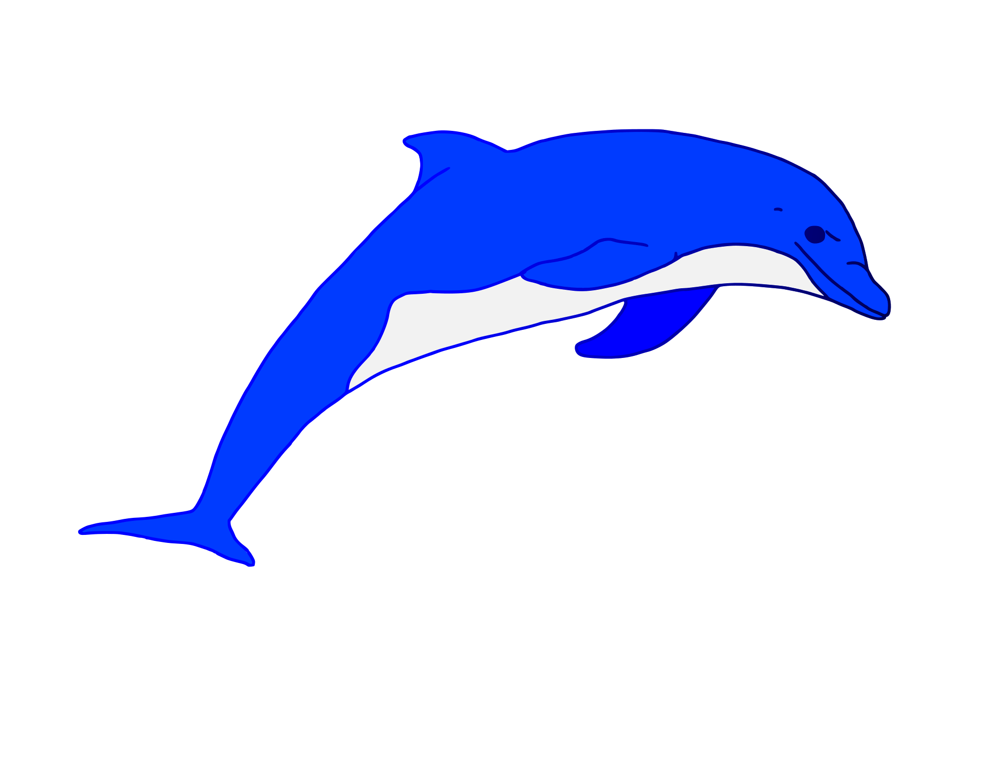 svg freeuse Vector dolphin water. Blue jumping art rooweb
