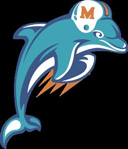 image Miami dolphins logo svg. Vector dolphin heraldic