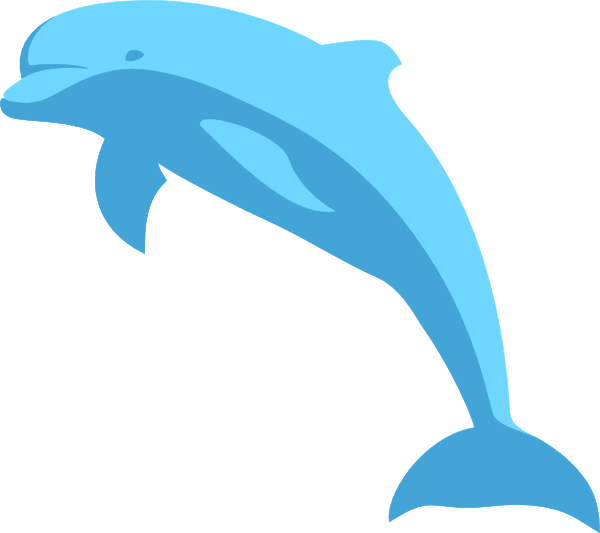free stock Blue Dolphin Clip Art at Clker