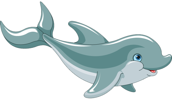 banner stock Vector dolphin transparent. Cartoon png hd images
