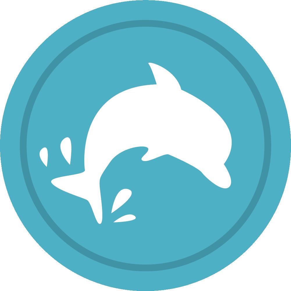 clip art free vector dolphin circle #107740382