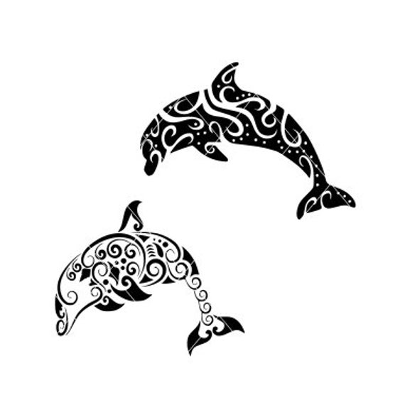 clip art freeuse download Cut file mandala swimming. Vector dolphin svg