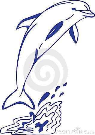 vector library download Vector dolphin drawing. Jumping bathroom decor dolphins