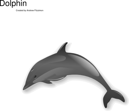 svg free download Vector dolphin realistic cartoon. Cute drawings path decorations